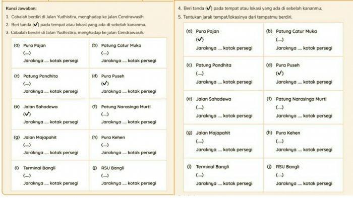 Jawaban numerasi 3 Kelas 1 SD TVRI Selasa 19 Januari 2021.
