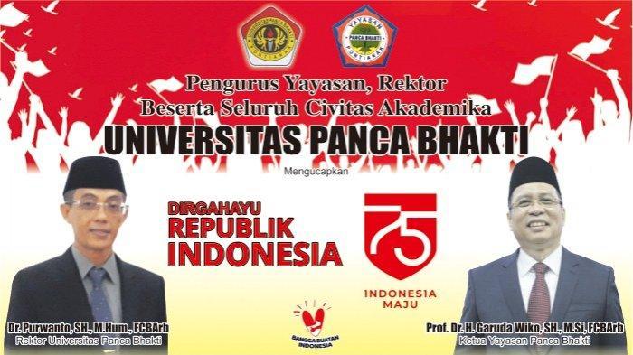 Universitas Panca Bhakti Pontianak Ucapkan Dirgahayu Republik Indonesia ke-75