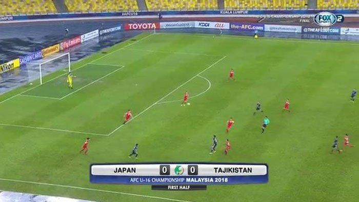 LIVE BOLA Babak II Jepang Vs Tajikistan! Final Piala Asia U16, Babak I Tanpa Gol