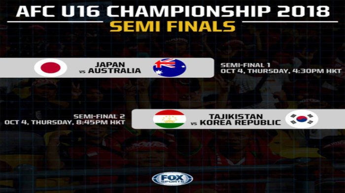Jepang Comeback 2-1, (LIVE) Timnas U16 Jepang Vs Australia di Piala AFC 2018
