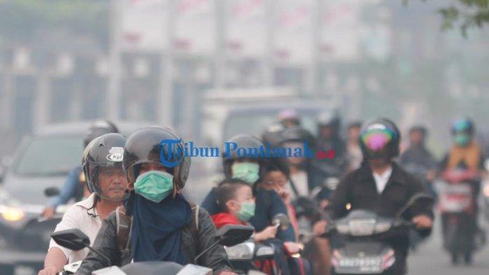 FOTO: Kabut Asap Pekat Selimuti Kota Pontianak, Kualitas Udara Sangat Tidak Sehat - kabut-asap-pontianak-3.jpg