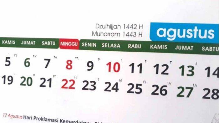 Jadwal Hari Libur Nasional dan Daftar Hari Penting di Bulan Agustus 2021 Termasuk Tahun Baru Islam