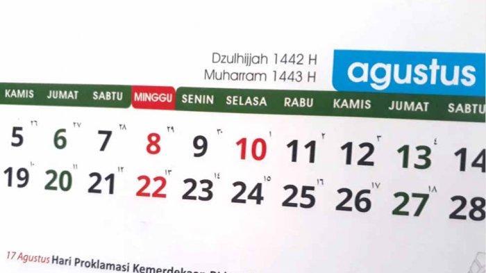 Jadwal Hari Penting Bulan Agustus 2021 dan Jadwal Puasa Asyura di Bulan Muharram 1443 Hijriyah