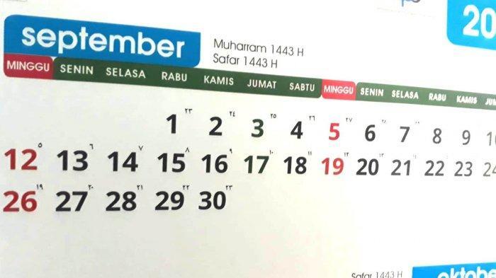 Daftar Hari Penting di Bulan September 2021, Umat Islam Masuki Bulan Safar 1443