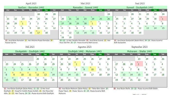 Kalender 2021 Lengkap Dan Kalender Hijriah 1442 1443 Terbaru Ada Jadwal Ayyamul Bidh Setahun Penuh Tribun Pontianak