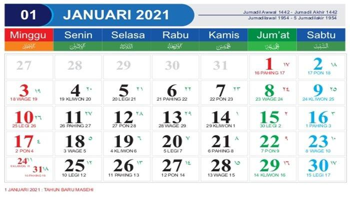 KALENDER Indonesia Terbaru Tahun 2021 - Daftar Libur ...