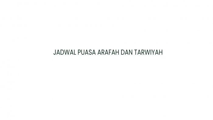 NIAT PUASA Tarwiyah Besok Minggu 18 Juli 2021 dan Lanjut Puasa Arafah Hapus Doa Setahun