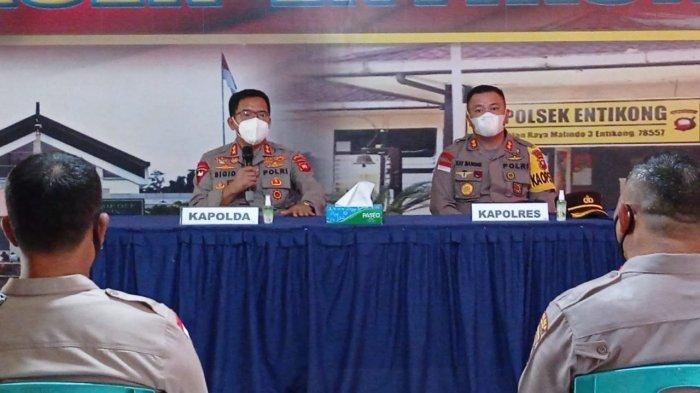 Kunjungan Kerja ke Polsek Entikong, Berikut Arahan Kapolda Kalbar kepada Personel