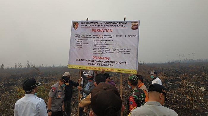 Tiba di Ketapang, Kapolda Kalbar Pimpin Penyegelan Lahan Terbakar Perusahaan Perkebunan Kelapa Sawit
