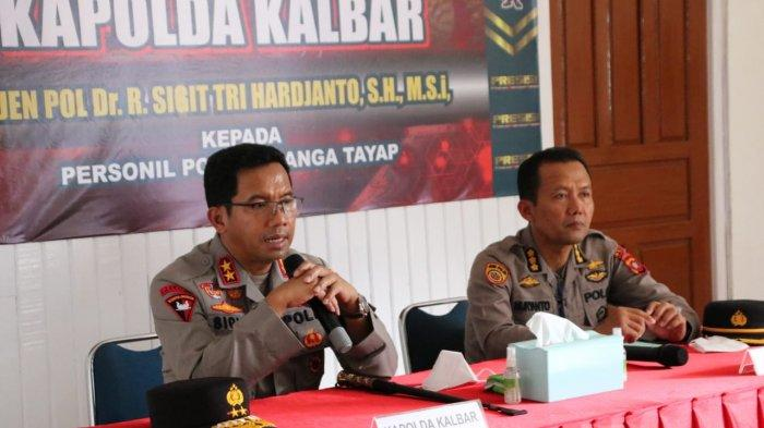 Kunjungan Kerja ke Polsek Nanga Tayap, Kapolda Yakinkan Masyarakat Masuk Polisi Tidak Dipungut Biaya