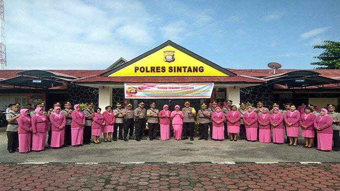Sertijab Sejumlah Pejabat Polres Sintang, Berikut Daftar Perwira yang Menempati Jabatan Baru