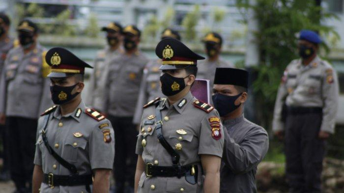 Suasana upacara Sertijab Kasat Reskrim Polres Kapuas Hulu, Senin 1 Maret 2021