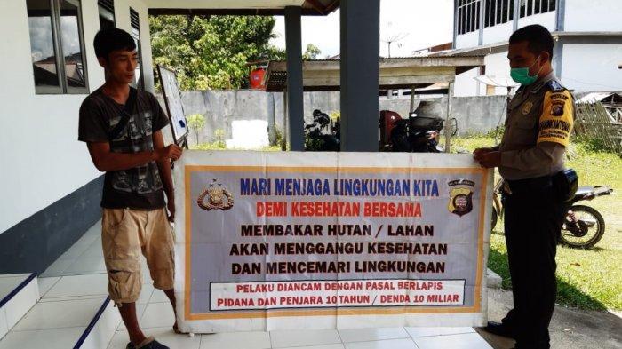 Polsek Kembayan Laksanakan Kampanye Pencegahan Karhutla