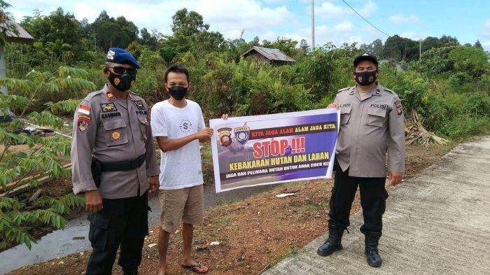 Ops Bina Karuna 2021 Polres Kapuas Hulu Lakukan Patroli dan Sosialisasi Karhutla pada Warga
