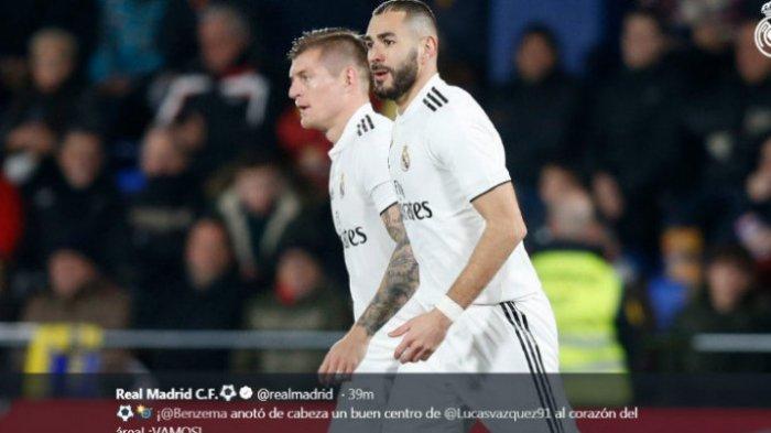 UPDATE Skor Hasil Real Madrid vs Valencia - Sepakan Keras Karim Benzema Berbuah Gol, Skor 1-0