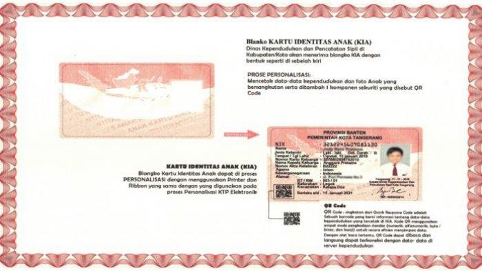 Dasar Hukum Penerbitan Kartu Identitas Anak (KIA)