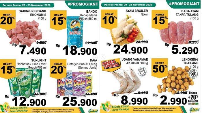 Katalog Promo Jsm Giant 20 23 November Belanja Hemat Harga Spesial Diskon 4 Hari Beras Susu Tribun Pontianak