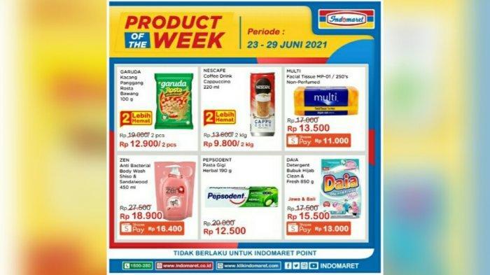 Katalog Promo Indomaret Product of The Week 23 - 29 Juni 2021.