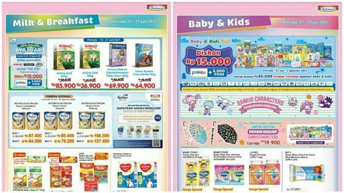 PROMO INDOMARET Terbaru 21 - 27 Juli 2021, Diskon Susu Snack Minyak Goreng hingga Popok Bayi