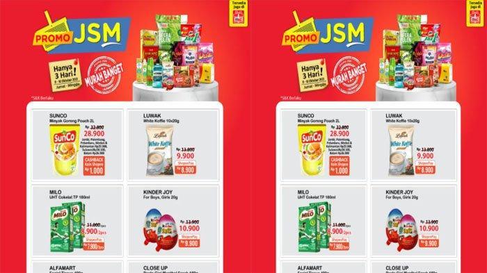 PROMO JSM ALFAMART 8 - 10 Oktober 2021, Sunco Minyak Goreng Rp 28.900 & Beras Rp 53.900 - 55.900
