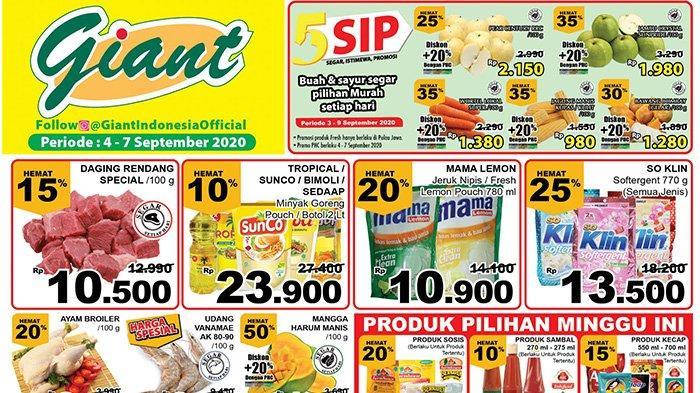 Katalog Promo Jsm Giant 4 7 September 2020 Serba Hemat Minyak Goreng Deterjen Beras Harga Spesial Tribun Pontianak
