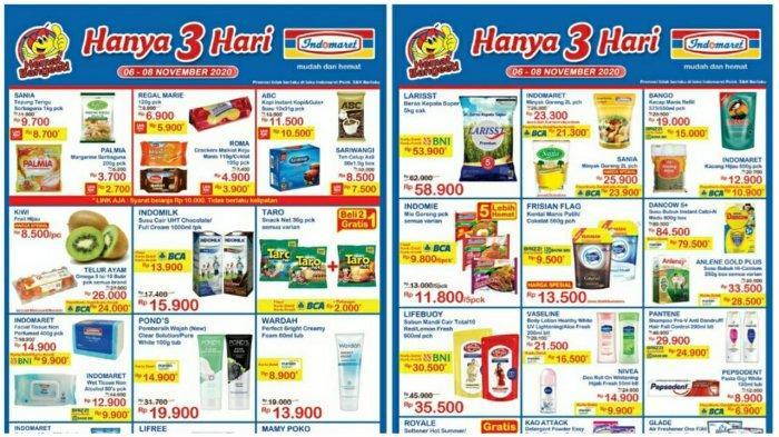 Katalog Promo Jsm Indomaret 6 8 November 2020 Diskon Beras Minyak Goreng Hingga Susu Hanya 3 Hari Tribun Pontianak