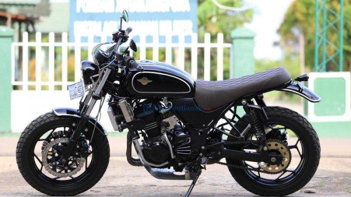 Modif Ninja 250cc Jadi Scrambler Tribun Pontianak