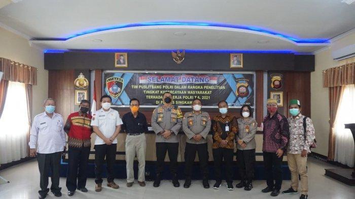 Tim Puslitbang Polri Kunjungi Polres Singkawang Lakukan Penelitian Tingkat Kepercayaan Masyarakat