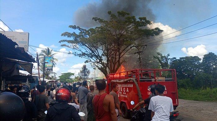 KRONOLOGI Kebakaran di Kubu Raya Hanguskan 4 Kios! Tidak Ada Korban Jiwa