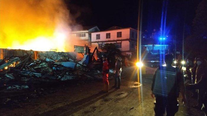60 Ruko Hangus Terbakar di Sintang, Kapolres Ventie Bernard Musak Beberkan Penyebabnya