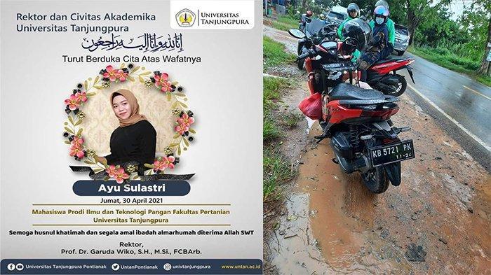 Universitas Tanjungpura Berduka! Mahasiswi Pertanian Meninggal Akibat Kecelakaan di Singkawang