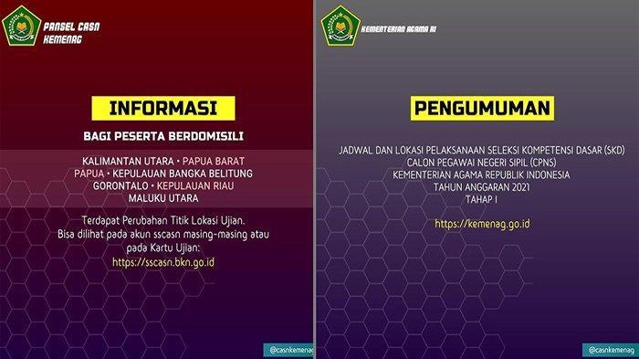 kemenag.go.id INFO CPNS 2021 Terbaru, Cek Jadwal SKD CPNS Kemenag & Lokasi Ujian