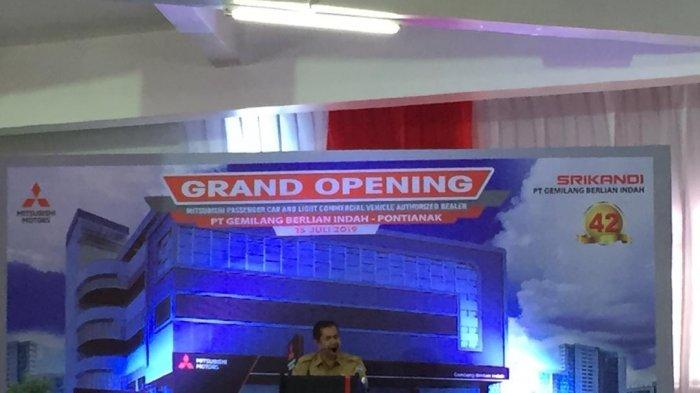 Kadis Perizinan Kota Pontianak Apresiasi Peresmian Showroom Mitsubishi di Pontianak