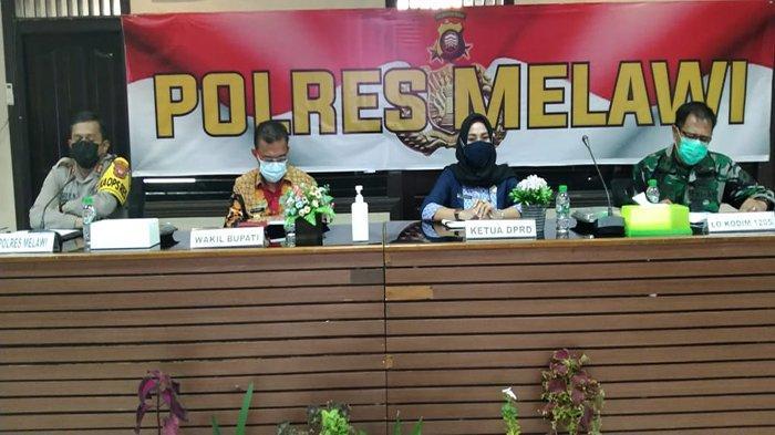 Polres Melawi Gelar Rakor Linsek Percepatan Program Vaksinasi Nasional dan Perayaan Keagamaan
