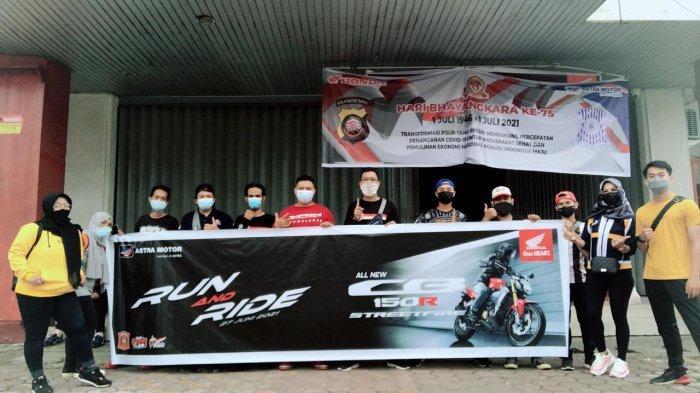 Astra Motor Gelar Run and Ride Bersama Honda Community West Borneo