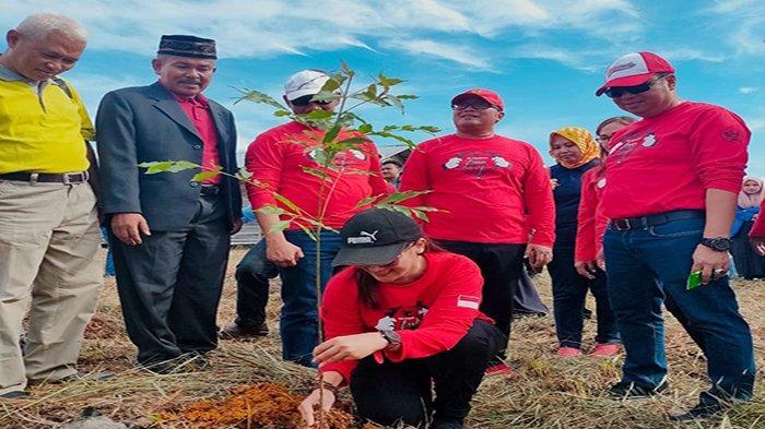 Ketua DPD PDI Perjuangan Kalimantan Barat Lasarus menginstruksikan seluruh jajaran DPC PDI Perjuangan se-Kalimantan Barat menggalakkan gerakan penanaman pohon, Selasa 5 Januari 2021. TRIBUN PONTIANAK/ISTIMEWA