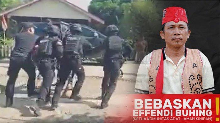 BREAKING NEWS - Pejuang Adat Laman Kinipan Ditangkap, Buhing Diseret dari Rumah Menuju Mobil Hitam