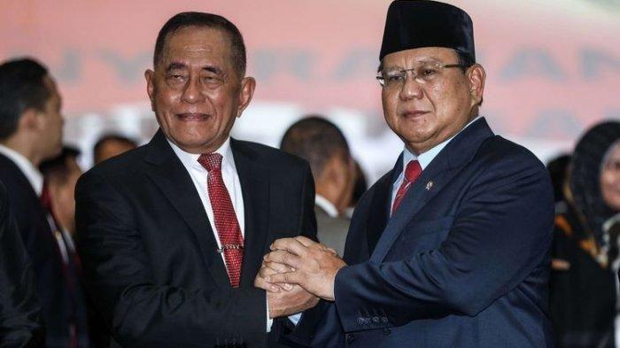 Prabowo-Ryamizard Nostalgia Masa Akabri, Wapres ke-6 dan Politisi Gerindra Saksikan Sertijab