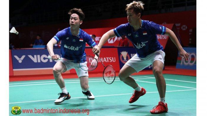 SEDANG BERLANGSUNG, Live Streaming Marcus/Kevin vs Ellis/Langridge Indonesia Masters 2020