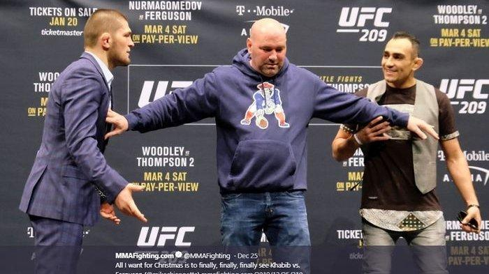 Jadwal Khabib vs Ferguson UFC 249, Khabib Nurmagomedov vs Tony Ferguson Panas Sebelum Bertarung