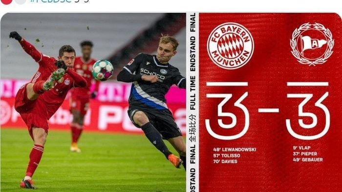 KLASEMEN Bundesliga 2021 Terbaru Usai Hasil Liga Jerman Bayern Muenchen Ditahan Arminia Bielefeld