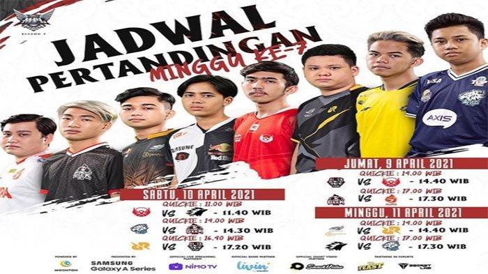 CEK Jadwal MPL Season 7 Week 7 Tanggal 9-11 April 2021 - Dendam Alter Ego Vs RRQ dan ONIC Vs EVOS