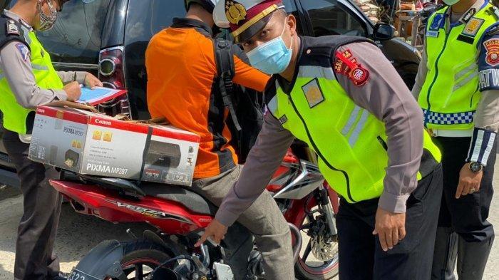 Sat Lantas Polres Bengkayang Tindak Tegas Sepeda Motor Pakai Knalpot Racing