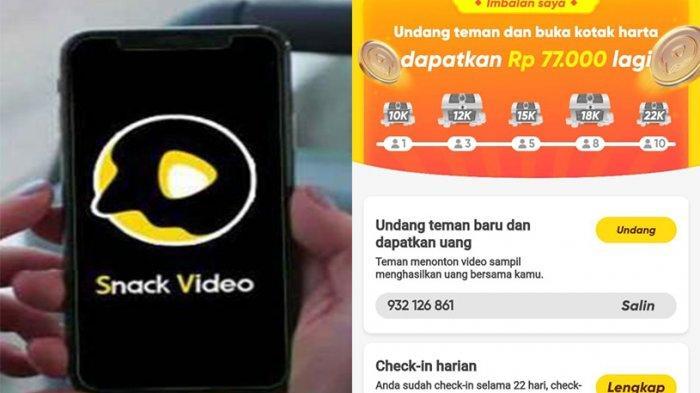 Lagi Booming Aplikasi Snack Video, Pakai Kode Undangan Snack Video Ini Dapat Koin Snack Video