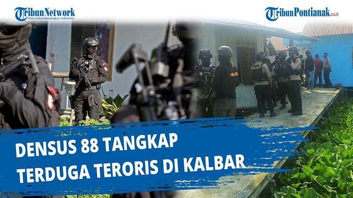 Densus 88 Bersama Polres Singkawang Geledah Dua Lokasi Terduga Teroris di Kota Singkawang