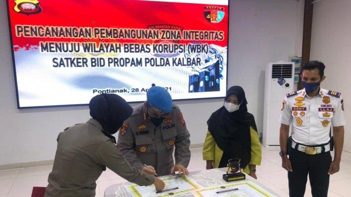 Bid Propam Polda Kalbar Mencanangkan Pembangunan Zona Integritas & Penandatanganan Pakta Integritas