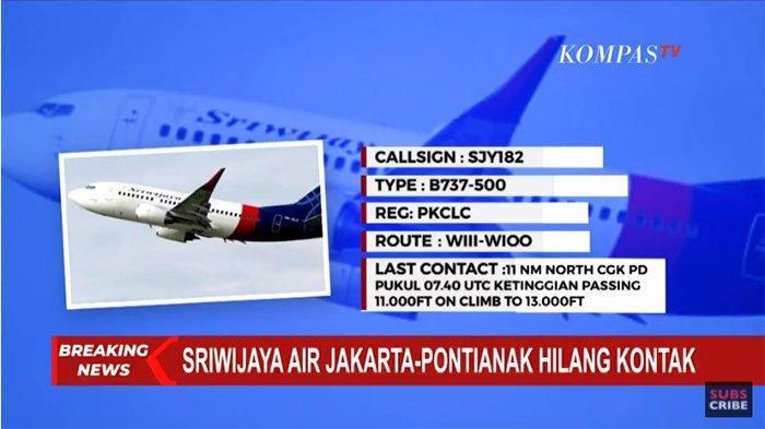 BERITA Terkini Pesawat Sriwijaya Air Rute Jakarta ...