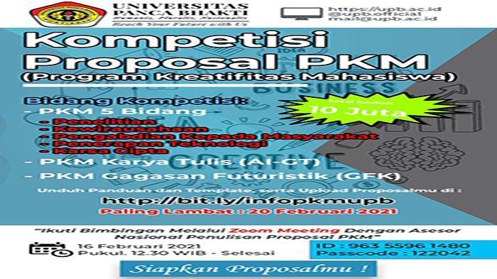 Kompetisi Proposal PKM UPB Pontianak dengan Total Hadiah 10 Juta Dibuka, Berikut Cara Memenangkannya