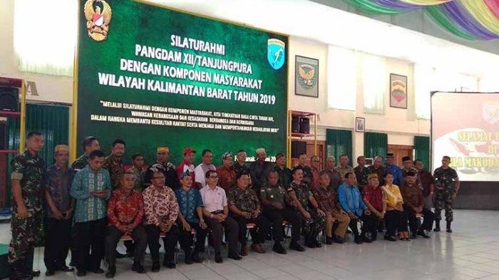 Tingkatkan Cinta Tanah Air, Kodam XII Tanjungpura Gelar Silaturahmi dengan Masyarakat Masyarakat
