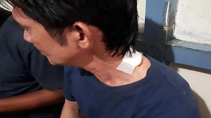 Hutang Tak Kunjung Dibayar Leher Tetangga Ditikam